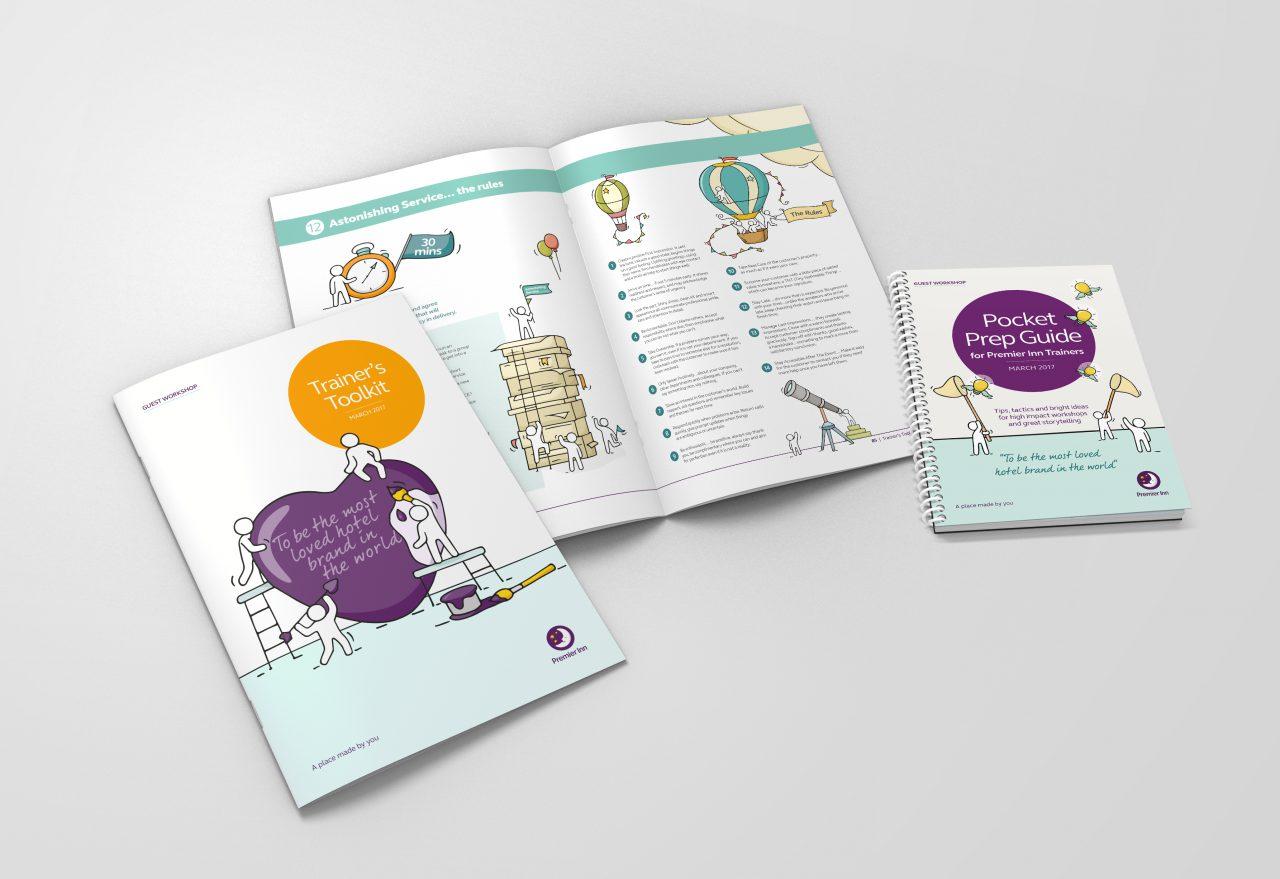 Image of Premier Inn brochure and pocket book
