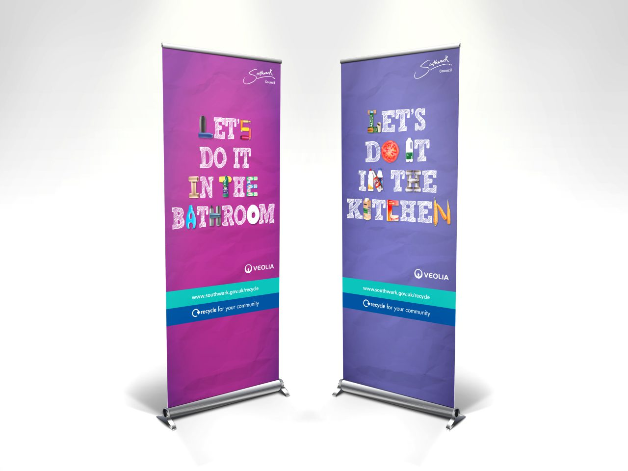 Veolia Southwark pull up banners