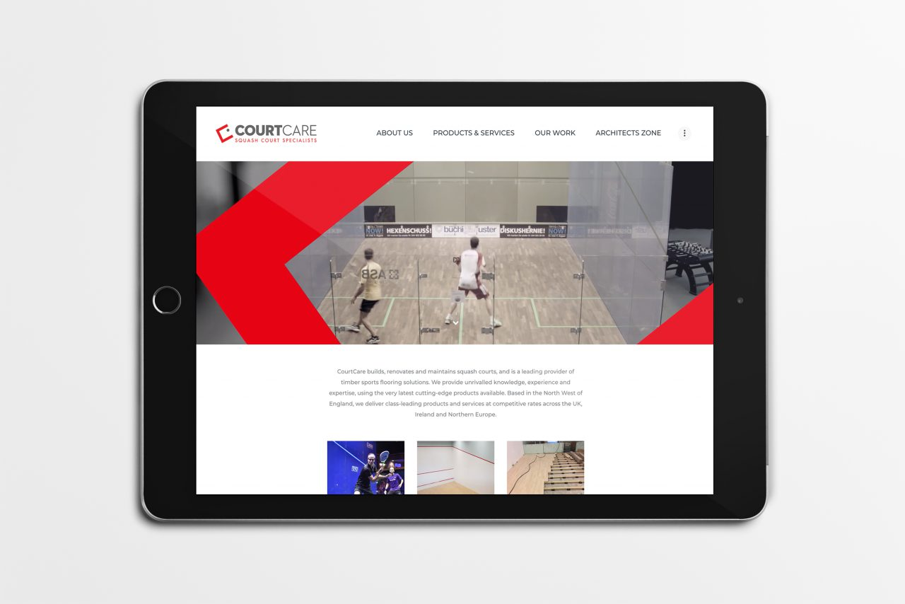 CourtCare website homepage