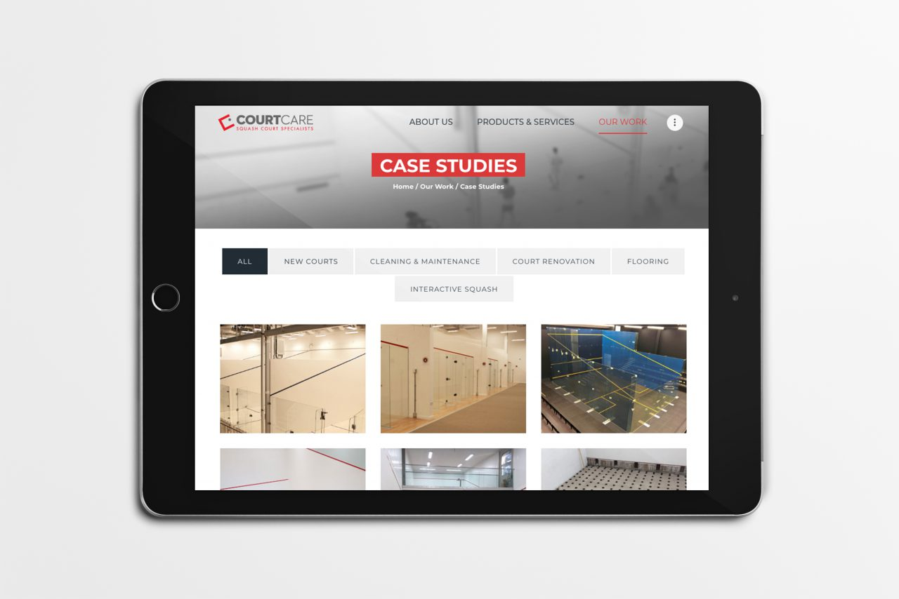 CourtCare website - case studies