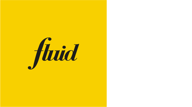 Fluid Can Do yellow and white logo